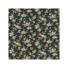 Petite Fleur 3 Tapete Blumen schwarz-bunt 285146 v. Rasch Textil