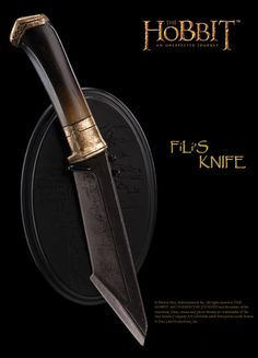THE HOBBIT: AN UNEXPECTED JOURNEY : KNIFE OF FILI THE DWARF