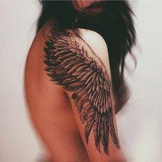 Sexy Angel/Bird Wing Sleeve Tattoo | Venice Tattoo Art Designs