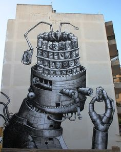 Awesome new work by Phlegm at Ibiza's Bloop Festival