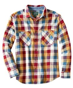 Men's Homespun Plaid Flannel Shirt