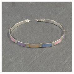 34,00 Euros - Pulserade Plata de ley 925 y nácar o madreperla multicolorarticulada Bracelets, Silver, Jewelry, Sterling Silver Bracelets, Chains, Accessories, Jewlery, Money, Bijoux