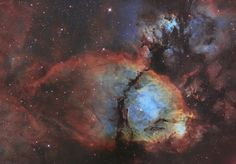 The Fish Head Nebula (IC 1795) is an emission nebula in the constellation Cassiopeia the Queen.