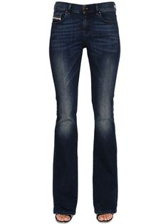DIESEL Sandy-B Boot Cut Cotton Denim Jeans, Blue. #diesel #cloth #jeans