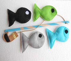 Felt Fishing Game Montessori Toy Fishing Game  READY by Sapucha, $12.09