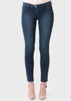 Cross My Heart Printed Jeans