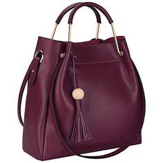 3-Way Women Designer Leather Tassel Handbag Shoulder Bag Crossbody Purse   #CarryWithYou
