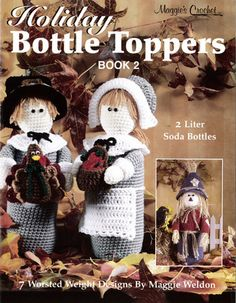 Picture of Holiday Bottle Toppers 2 Crochet Pattern Leaflet
