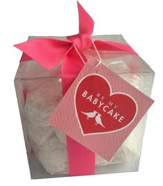 Russian Tea Cakes with a BE MY BABYCAKE valentine tag. Aw!