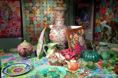 Kaffe Fassett table by eclectic gipsyland, via Flickr