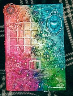 Lin's mixed media art  Colourful box