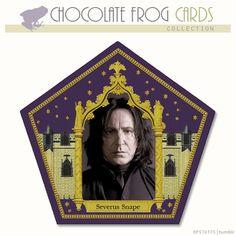 CHOCOLATE FROG CARD -- SEVERUS SNAPE,
