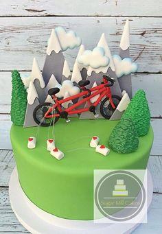 bicycle groom's cake