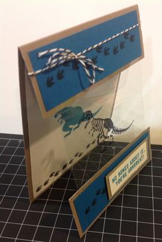 Side view of the card I created using Stampin Ups new stamp set No Bones About It..