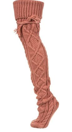 Unique Cable Thigh High Socks** - Unique - Clothing - Topshop USA Would wear with my boots Thigh High Socks, Thigh Highs, Botas Boho, Look Fashion, Autumn Fashion, Fashion Goth, Mein Style, Boot Socks, Unique Outfits