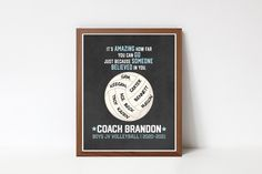 Printable Quotes, Printable Wall Art, Brandon Boys, Coach Christmas Gifts, Team Word, Coach Appreciation Gifts, Coaching Volleyball, Busy Life, Retirement Gifts