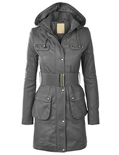 MBJ WJC869 Womens Faux Leather Long Coat M GRAY -- You can get more details by clicking on the image.(This is an Amazon affiliate link and I receive a commission for the sales)