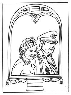 Trouwen Kleurplaten Print 1000 Images About Koningsdag Kleurplaten On Pinterest