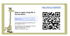 Shorten that URL and created a QR code by Tammy Worcester