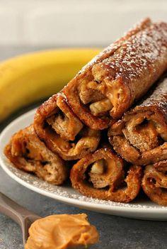 Peanut Butter Banana French Toast Roll Ups Recipe