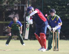 A Brigade CC batsman has a close shave watched closely by @Sam Ward behind the stumps