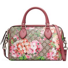 Gucci Blooms Gg Supreme Top Handle Bag (£745) ❤ liked on Polyvore featuring bags, handbags, shoulder bags, gifts, gifts for her, gucci purses, gucci, gucci shoulder bag, flower print purse and floral handbags