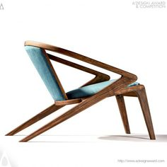 Buy online Portuguese roots lounge chair By aroundthetree, solid wood lounge chair with armrests design Alexandre Caldas, portuguese roots Collection Wood Chair Design, Lounge Chair Design, Sofa Design, Lounge Chairs, Plywood Furniture, Cool Furniture, Furniture Design, Futuristic Furniture, Poltrona Design