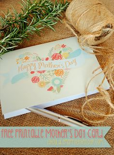Free printable Mother's Day Card /// Vintage Style /// Instant Download