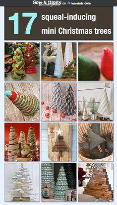 17 mini Christmas tree ideas