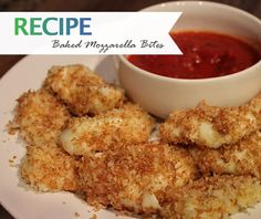 Try this delicious snack of baked mozzarella bites as an alternative to traditional fried cheesesticks. Only 91 calories per serving! Recipe here... http://ow.ly/w0dSr