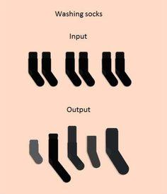 When Washing Socks