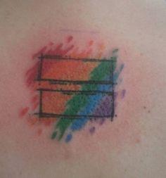 Pride equality tattoo