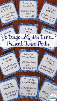Whole class Interactive game for Spanish present tense AR, ER, and IR verbs plus the verb ser. 2 versions included for differentiated practice. Spanish Teacher, Spanish Classroom, Present Tense Verbs, Teacher Resources, Teaching Ideas, Spanish Activities, Review Games, Blended Learning, Spanish Language