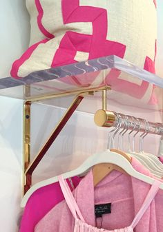 Clothing Rack Set Lucite and Brass Retail Display by LuxHoldups