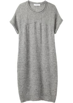 knit shirt dress ++ chalayan grey line