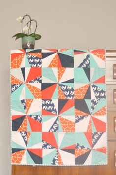 """Fantastically colored """"Elephants Love Water Quilt"""" by Karen Lewis of Blueberry Park."""