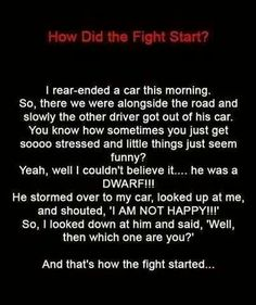 So that's how the fight started!