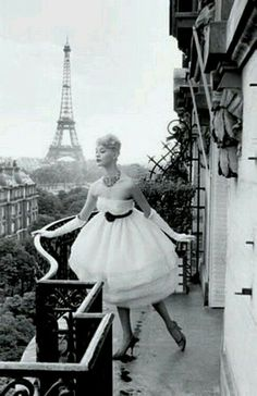 Paris on a balcony