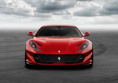 The sneering face of the Ferarri 812 Superfast