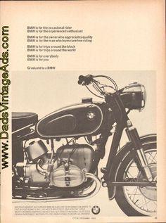 """1965 BMW Ad – """"Graduate to a BMW"""""""