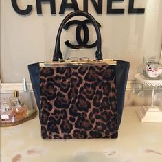Spotted while shopping on Poshmark: Michael Kors Lana Leopard Hair Calf Tote! #poshmark #fashion #shopping #style #MICHAEL Michael Kors #Handbags