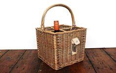 Bottle basket with bottle opener - Warings Store