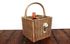 Bottle basket with bottle opener - Warings Store