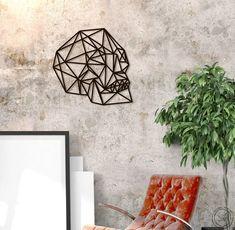 Metal Wall Art Skull Flat geometric steel Interior Sign Home | Etsy  home decor, metal wall art, wall panel, wall decor, wall sign, wall art, wall hanging, metal sign, wall sign, polygonal, loft, scandi decor, scandinavian, decor, interior my home, home decor ideas, geometric skull