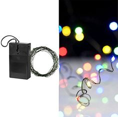"""240"""" 20' Multicolored LED Battery Operated Strand Fairy Christmas Lights Green Wire Indoor"""
