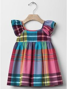 Maiden plaid flutter dress | Gap