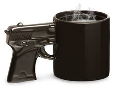 gun mug - for my husbands obsession with his gun. $11.99