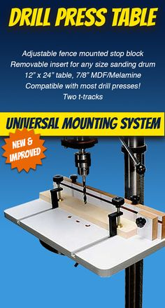 17 Best Drill Press Tables and Bits images in 2018   Drill press