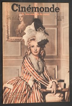 'CINEMONDE' FRENCH VINTAGE MAGAZINE VIVIANE ROMANCE COVER 8 OCTOBER 1946 in Books, Comics & Magazines, Magazines, Film & TV | eBay