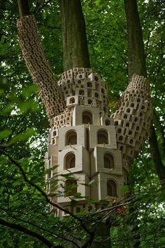 Spontaneous City in the Tree of Heaven by London Fieldworks | Yatzer